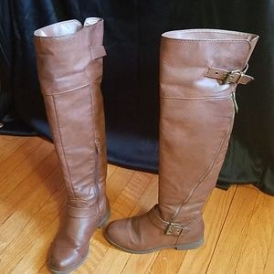 Aldo Knee high Leather boots Size 5